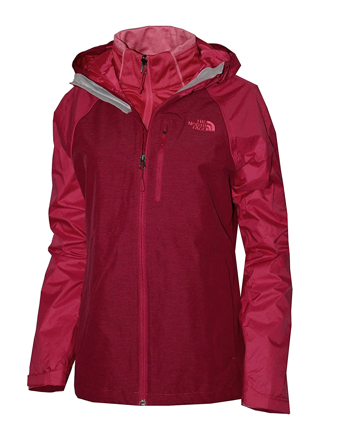 Cerise Pink THE NORTH FACE WOMEN'S CINDER TRICLIMATE 3 IN 1 JACKET Storm bluee