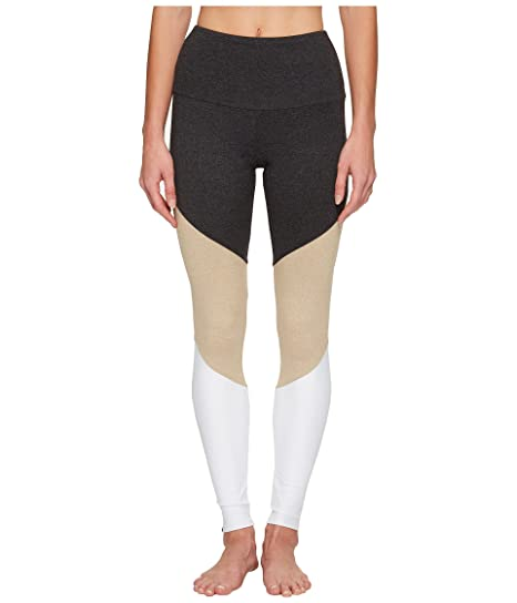 bfc398d17b8a3e Amazon.com: Onzie High Rise Track Leggings Taupe Combo (S/M): Clothing