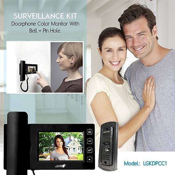 Amazon.com : LOGAN Video Door Phone Color Monitor with ...
