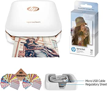 Amazon.com: TUDAK HP Sprocket Photo Printer Negro impresora ...