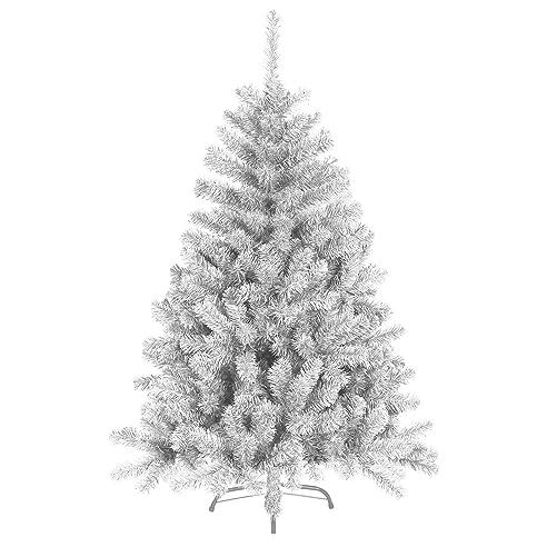 150 Cm 680 Spitzen Künstlicher Weihnachtsbaum Tannenbaum Christbaum In Weiß  Inkl. Metallfuß Christbaumständer