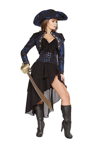 Amazon.com: Sexy mujer 4pc Capitán de la noche disfraz de ...