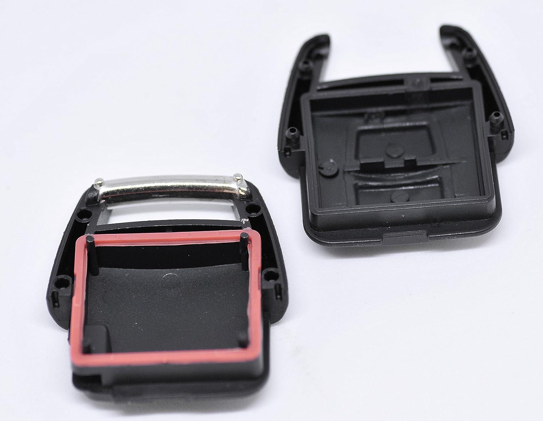 Repair Juego de reparaci/ón Carcasa Llave Mando a distancia Llave de Coche 2/x 2/botones Carcasa 4/x mikrotaster 2/x CR2032/Bater/ía para Opel