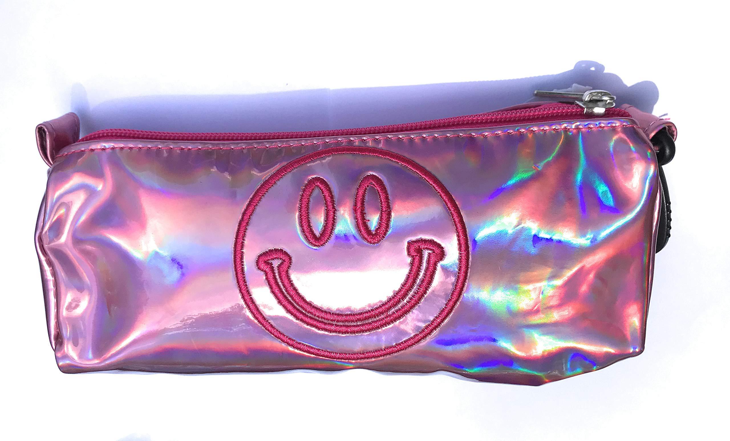 Top Trenz Inc Pencil Pens and School Supply Holders Metallic (Pink Smile)