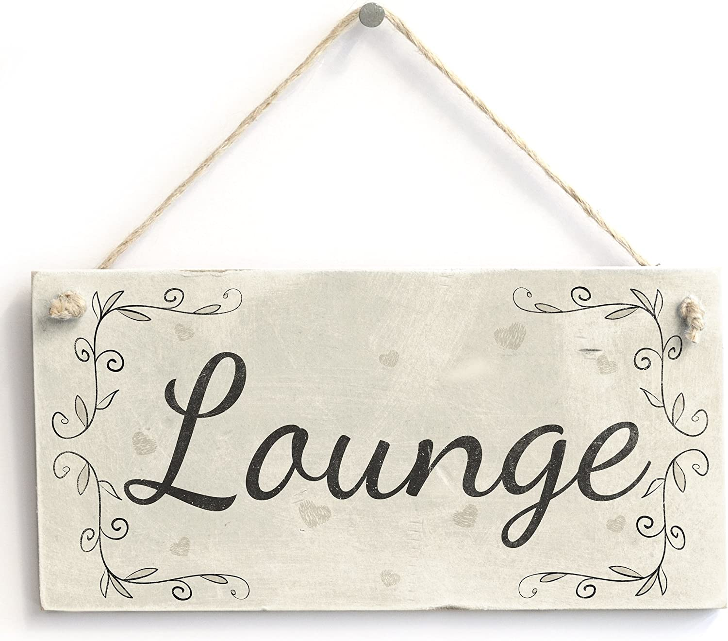 Lounge Plaque Home Decor Living Room Handmade Country Style Wooden Door Sign