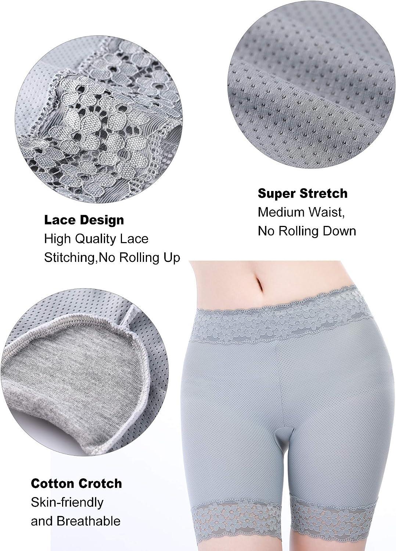 3 Pezzi Pantaloncini di Pizzo Pantaloncini di Sicurezza Intimo Legging in Breve per Donne Ragazze