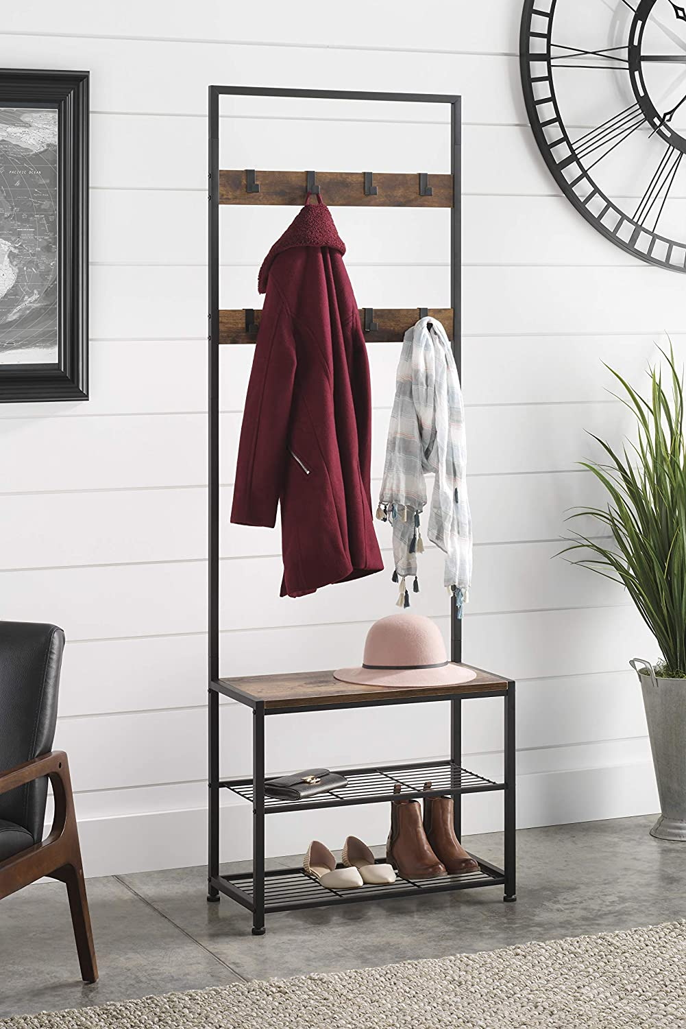 Whitmor Modern Industrial Entry Way Tower/Bench