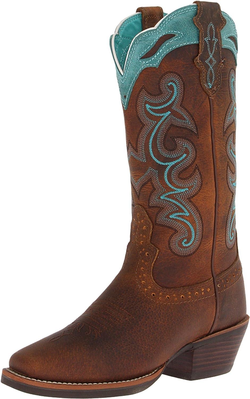 Justin Western Womens Handbag Boot Stitch Tote Tawny 1855491