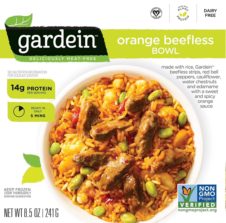 Gardein Single-Serve Orange Plant-Based Beefless Bowl, Vegan, Frozen, 8.5 oz.