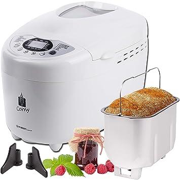 horno de pan de 750-1250 gramos panificadora con 12 funciones: Amazon.es: Hogar