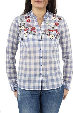 Desigual Cam Cabaceira - Camisa para mujer: Amazon.es: Ropa y accesorios