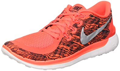 0eef8b5bf057 Nike Men s Free 5. 0 Print Bright Crimson Black White Running Shoe ...