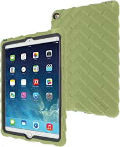 Apple iPad Air 2 Drop Tech Green Gumdrop Cases Silicone Rugged Shock Absorbing Protective Dual Layer Cover Case
