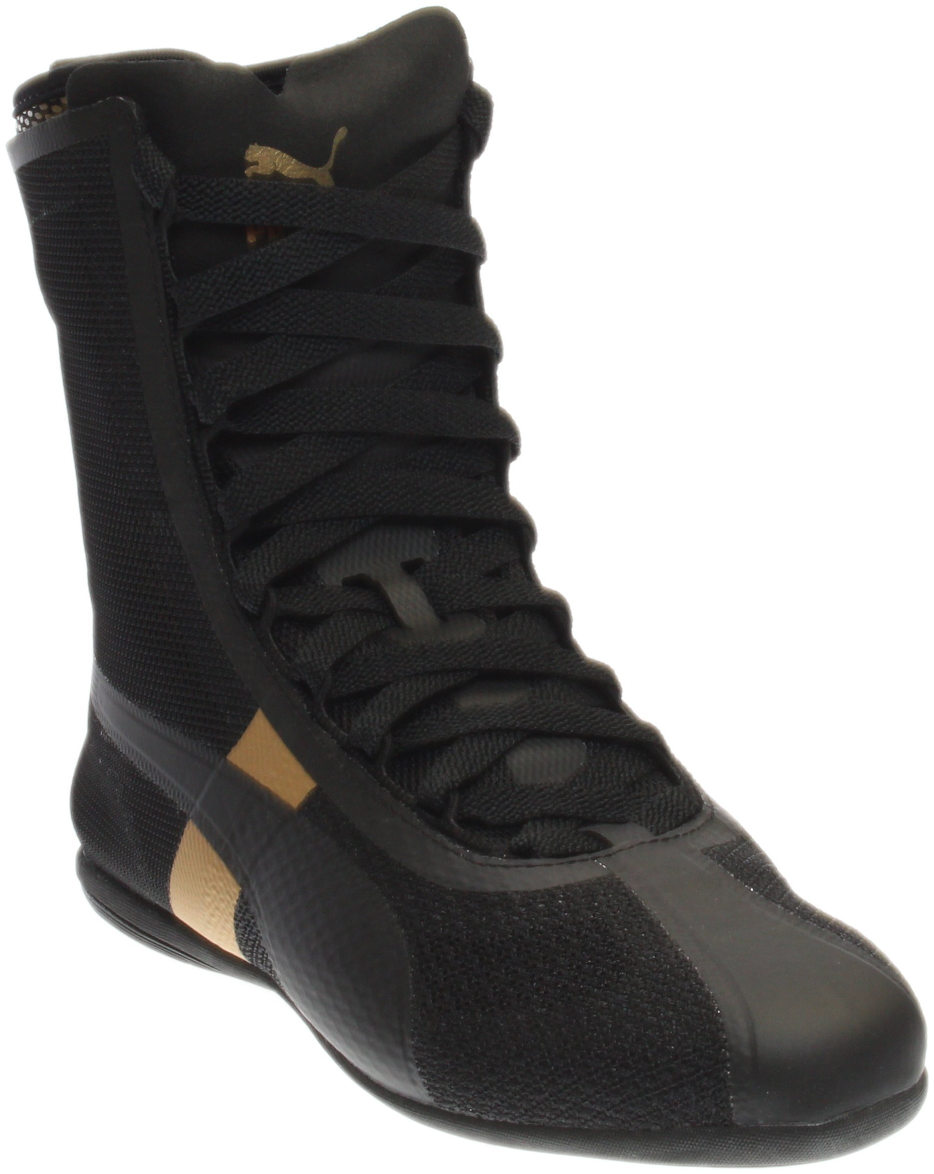 PUMA Women's Eskiva High EVO Black/Gold Athletic Shoe