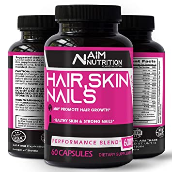 Hair Skin Nails Supplement Biotin Capsules Enriched With Vitamins Calcium Iron For Better Hair