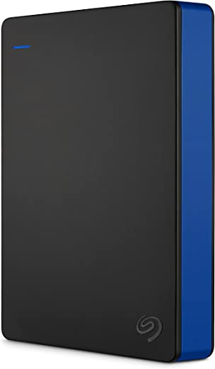 Seagate Game Drive 4TB External Hard Drive Portable HDD - Compatible With PS4 (STGD4000400) blue