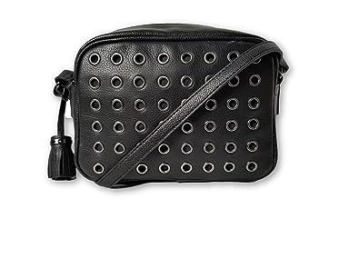 EMMA FOX Luna Leather Camera Bag Black Leather Crossbody Handbag ...