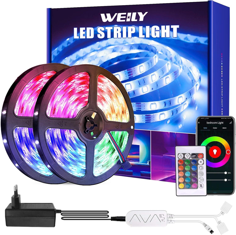 ,OxyLED LED Streifen RGB Farbwechsel 450 LED Ferngesteuert Sync zur Musik Flexible LED Streifen mit Ged/ächtnis LED Lichterkette Strips f/ür Zuhause,Schlafzimmer,Party,Ferien LED Strips 15m 3x5m