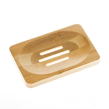 Aira Bamboo Soap Dish. Soap Holder For Shower, Counter, Sink, And Bathroom