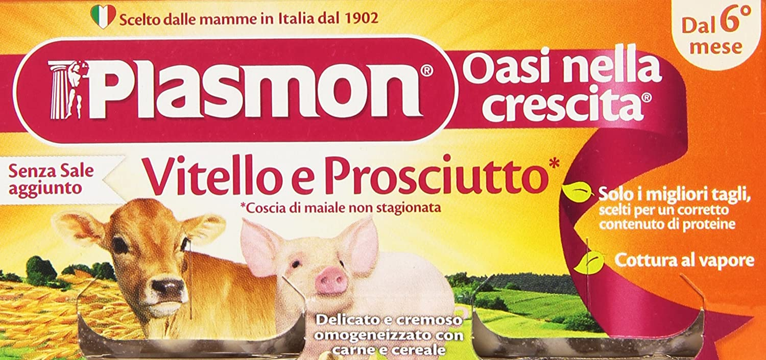 Plasmon Veal-Cooked Ham Meal Puree (2X80g)
