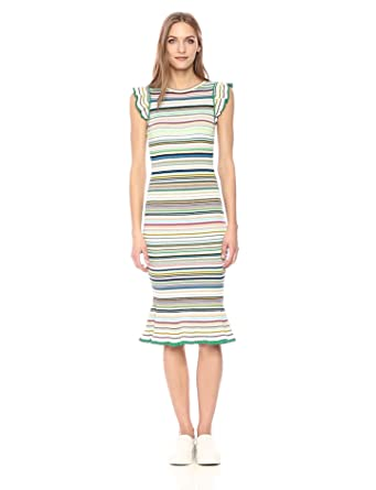 2e2a8baea51b Amazon.com: MILLY Women's Micro Stripe Mini Mermaid Dress: Clothing
