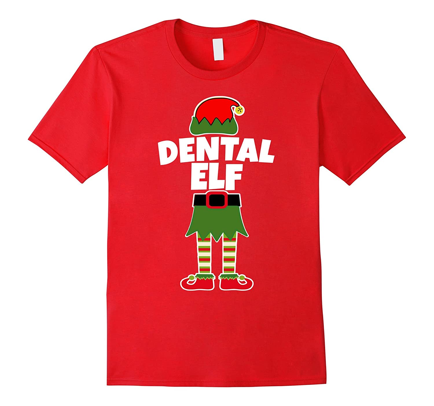 DENTAL ELF Christmas T Shirt Dentist Assistant Hygienist-FL