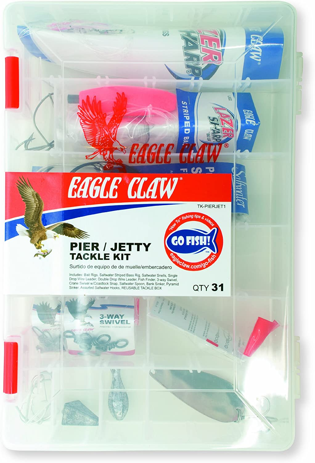 Eagle Claw Pier and Jetty Ready to Fish Tackle Kit