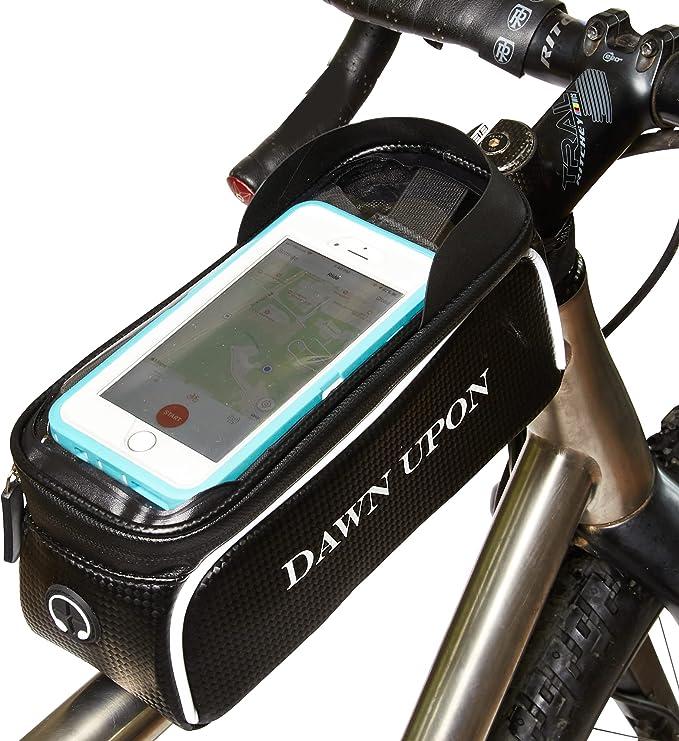 Waterproof Mountain Bike Frame Front Bag Pannier Bicycle Mobile Phone Holder