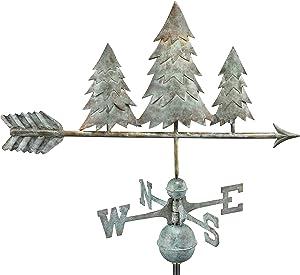 Good Directions Pine Trees Weathervane, Blue Verde Copper