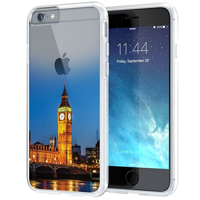 True Color Case Compatible With Iphone 6s Case Big Ben London Urban Landmarks Collection Printed On Clear Hybrid Cover Hard Soft Slim Durable