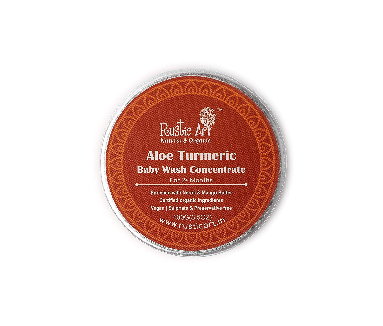 Buy Rustic Art Organic Aloe Turmeric Baby Wash Concentrate  Gentle