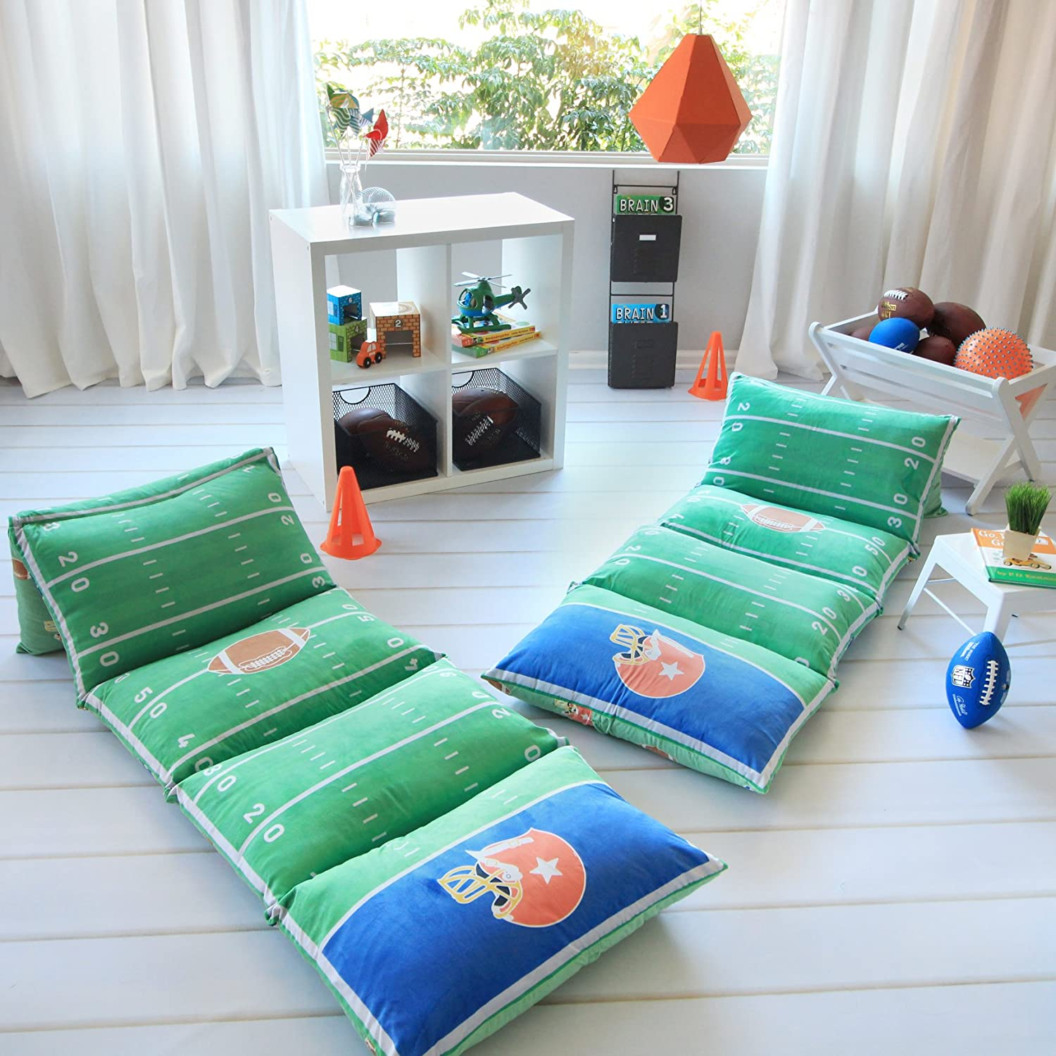 Football Themed Pillow Bed Cover Floor Pillow Lounger