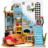 Rolife DIY Dollhouse Miniatures Craft Kits for Adults (Joy's Peninsula Living Room)