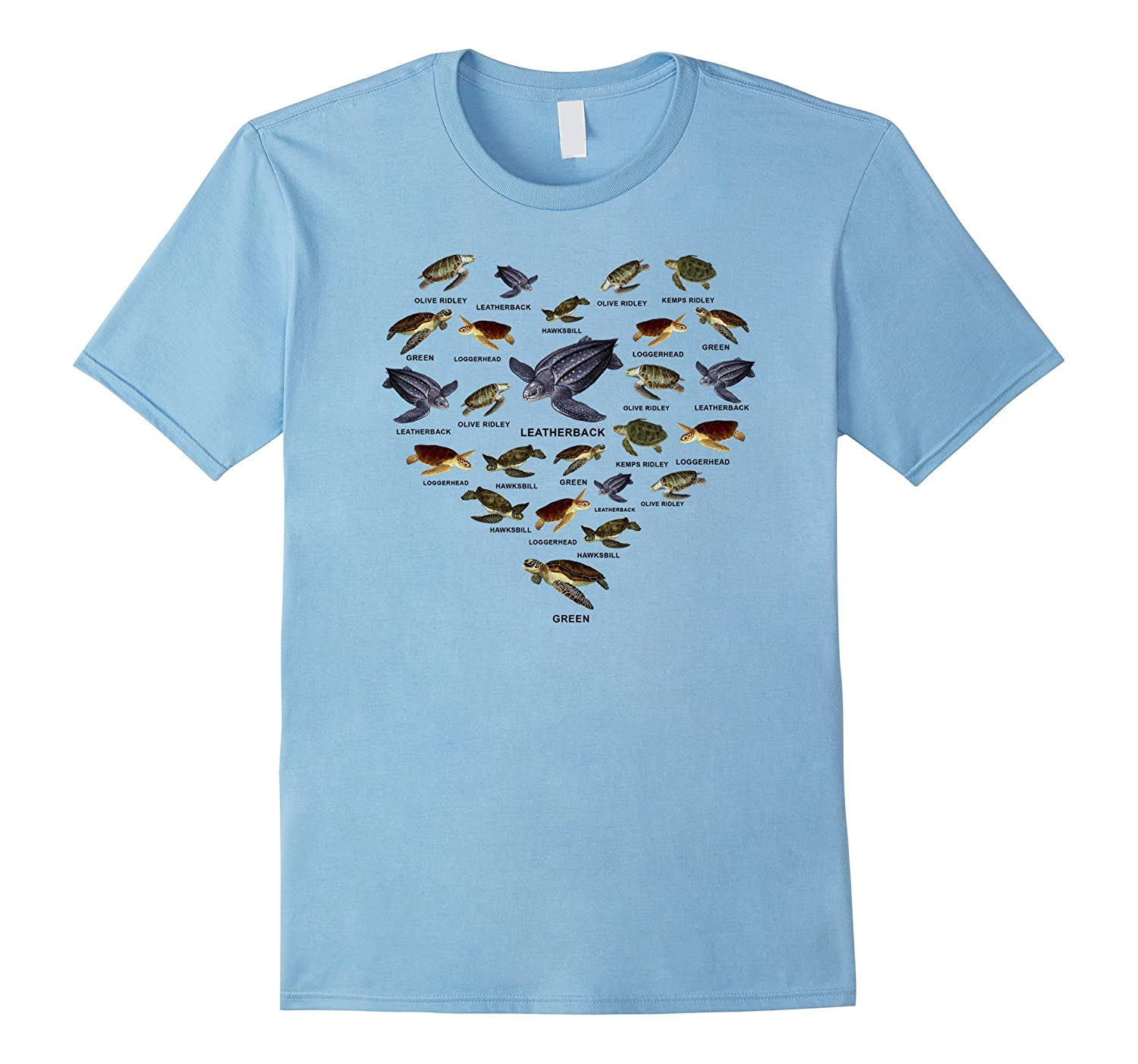 All Sea Turtles Species T Shirt Seaturtles T Shirt-TJ