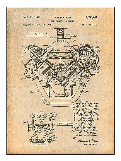 amazon com studio 21 graphix 1954 chrysler 426 hemi v8 engine rh amazon com 5.7L V8 Hemi Engine 5.7 Hemi Engine
