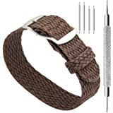 CIVO Bracelets de Montres 20 mm Simple Design Bracelet de Montre de Nato Bracelets en Nylon Tissés Tressés Perlés Premium en Nylon avec Boucle en Acier Inoxydable