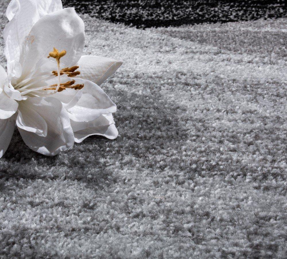 Paco Home Designer Teppich Modern Geschwungene Wellen Grösse:200x280 Linien Muster Kurzflor Meliert Grau, Grösse:200x280 Wellen cm 8c276f