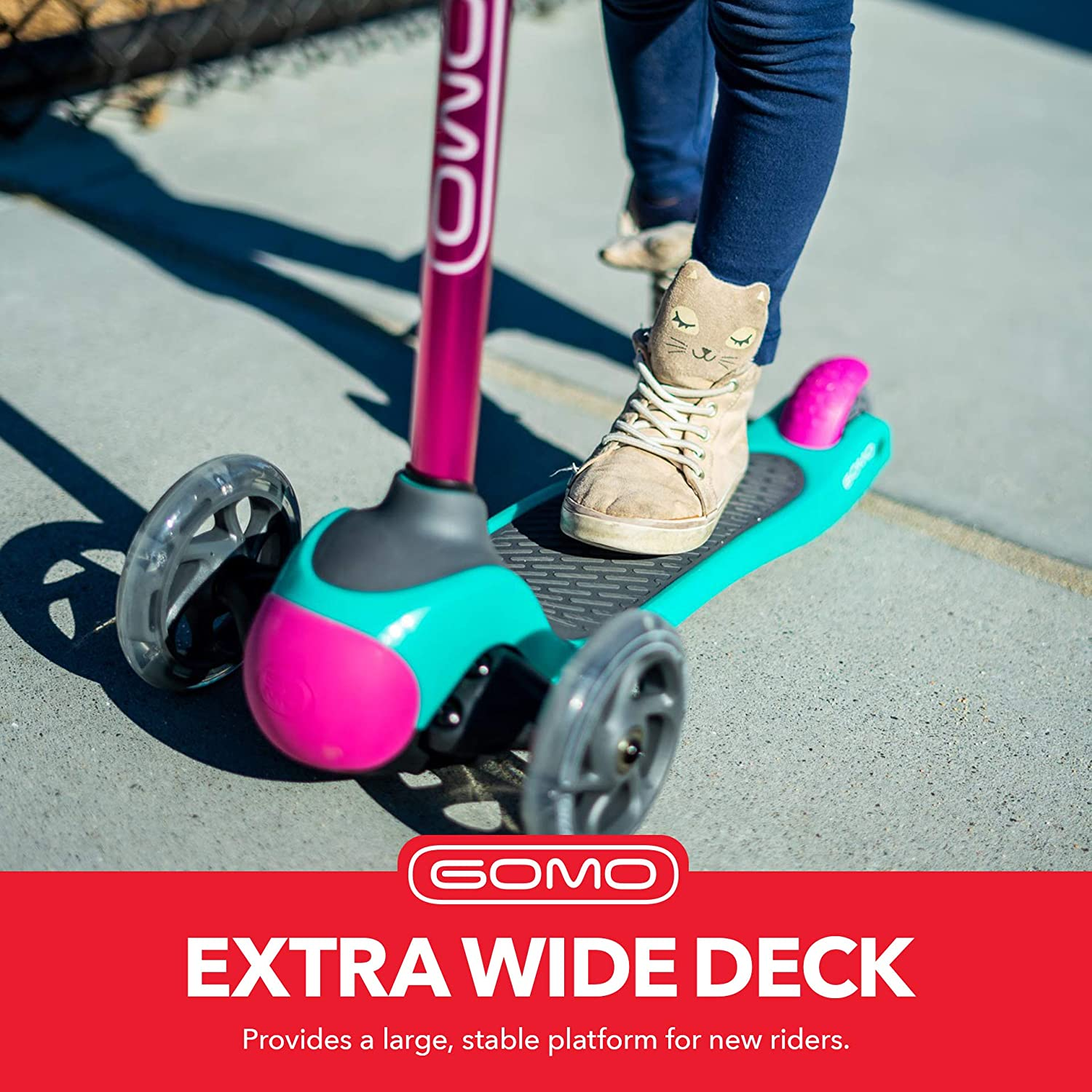Three Wheel Scooter for Kids 2 GOMO 3 Wheel Scooter 4 and 5 Years Old Toddler Scooter Adjustable Height Kick Scooter w//Colors for Boys /& Girls 3