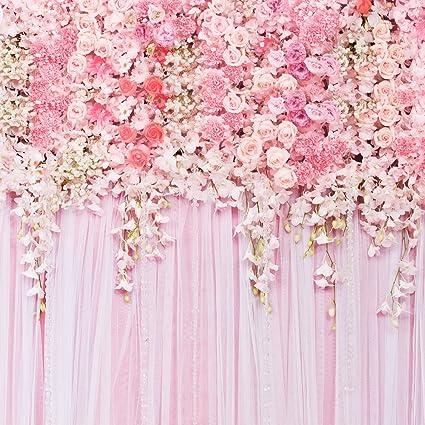 amazon com muzi pink flowers wall photography backdrops rose floral
