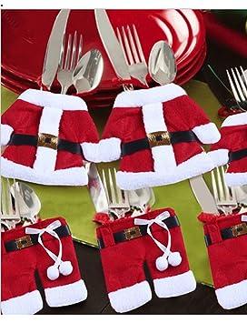 8 Juego de cubiertos funda Bolsita para cubiertos y servilletas, diseño de Navidad, envío desde Alemania.: Amazon.es: Hogar