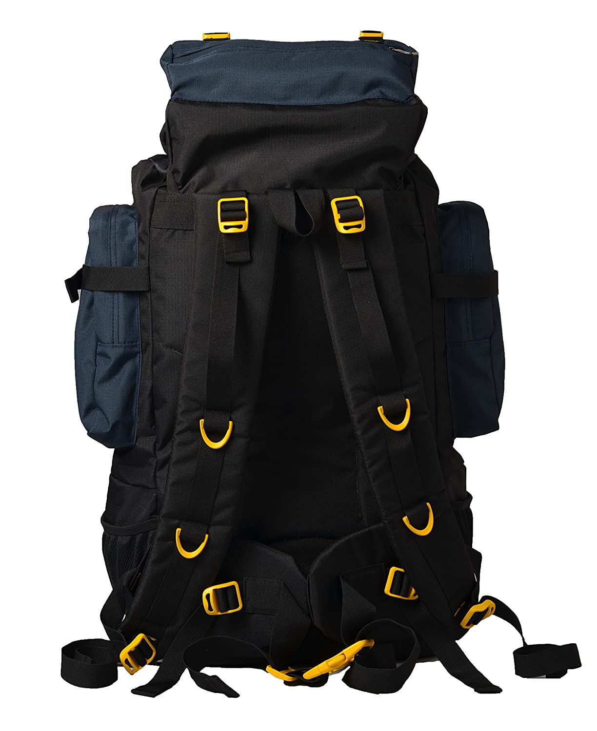 d6f87e9fe2bc3 F Gear Military Neutron Polyester 50 Ltrs Blk NB Checks Rucksack (2748)   Amazon.in  Bags