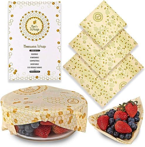Perfect Stock Beeswax Food Wrap Assorted Reusable Food Wraps