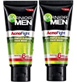 Garnier Acno Fight Face Wash for Men, 100g (Pack of 2) Sold By SB™