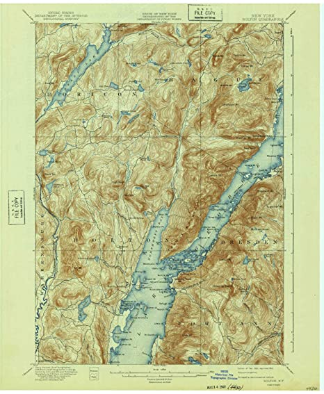Amazon Com Yellowmaps Bolton Ny Topo Map 1 62500 Scale 15 X 15