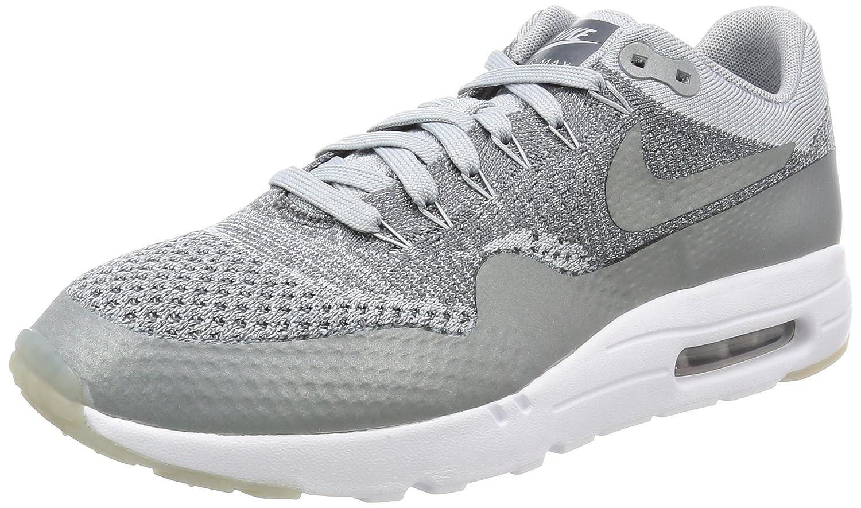 Nike Air MAX 1 Ultra Flyknit, Zapatillas de Running para Hombre 38.5 EU|Gris (Wolf Grey / Wolf Grey-dark Grey-white)