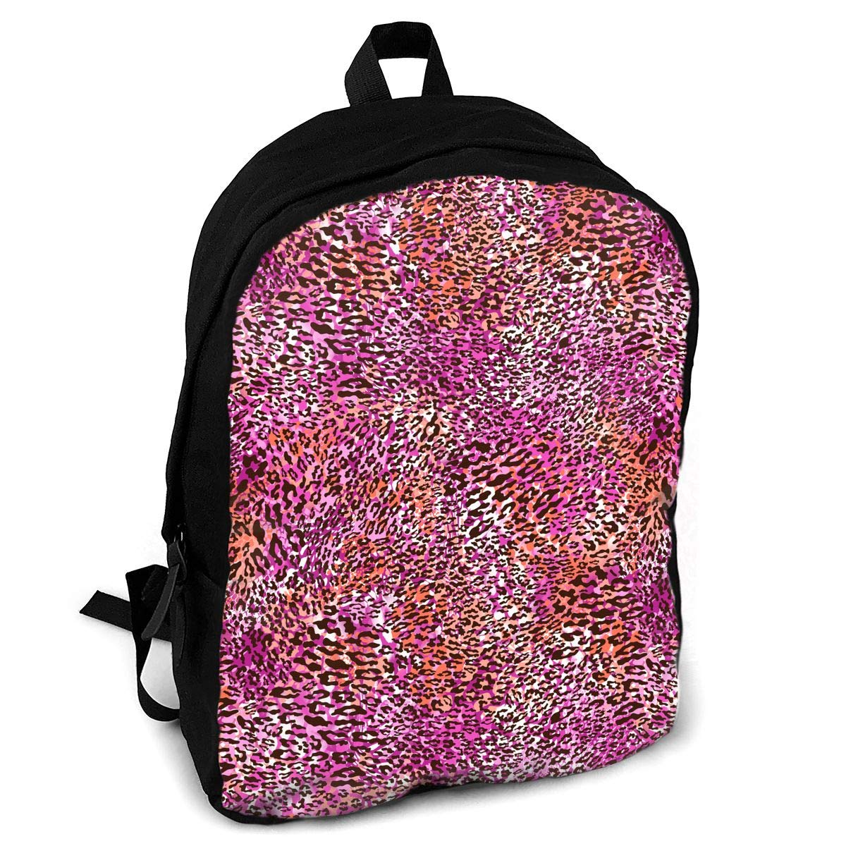 Fsxik pink orange leopard skin boys girls school rucksack college bookbag  lady travel backpack laptop bags 20b52dc0cffe8
