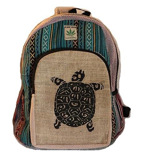 Mochila de fibra de cáñamo / mochila de cáñamo / mochila de día de cáñamo /