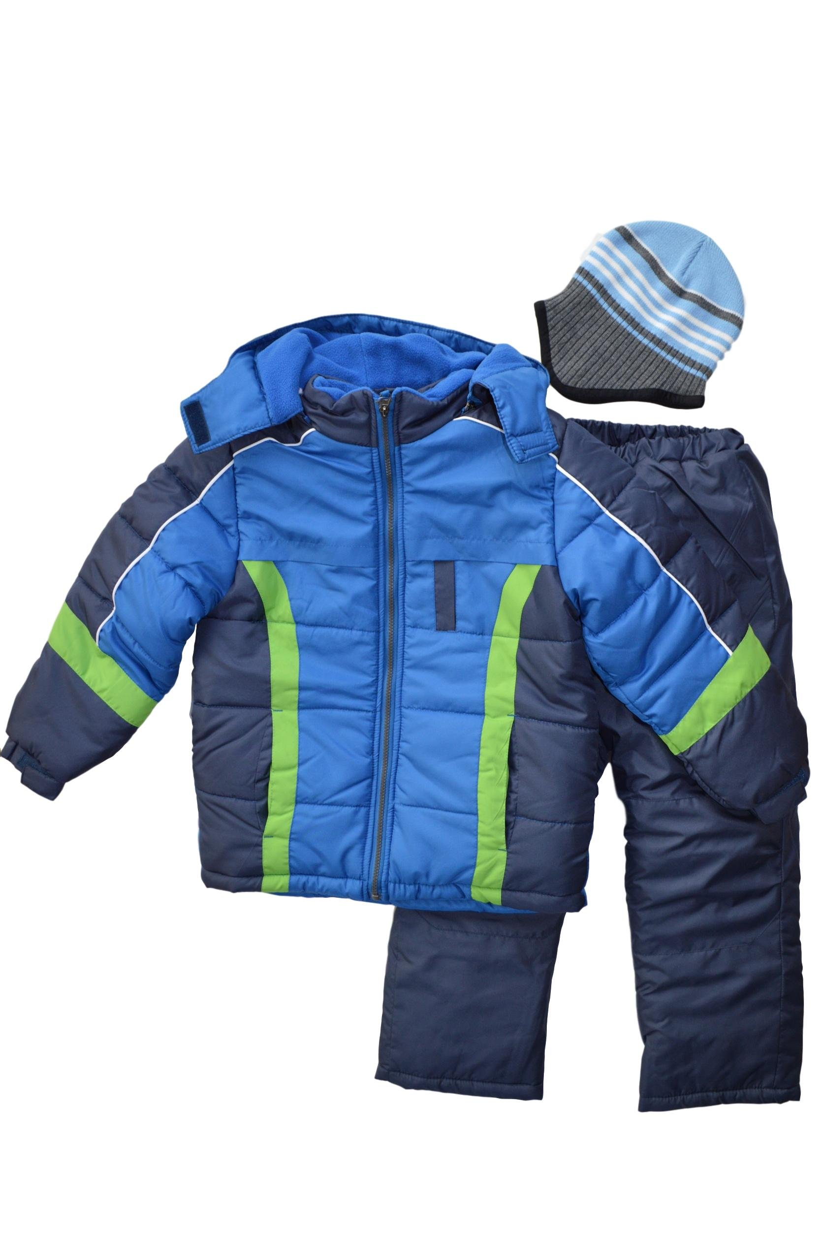 Snowsuits for Kids Boy's 3-Piece Active Snowsuit (5-6, Battalion Blue) by Snowsuits for Kids
