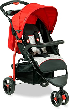 Fisher-Price Rover Steel Stroller Cum Pram (Red) Strollers at amazon