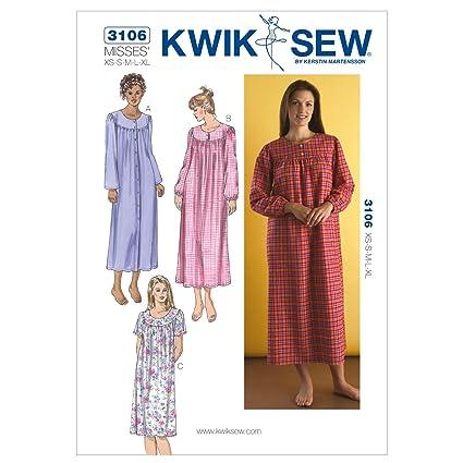 b24a3b6151 Amazon.com  Kwik Sew K3106 Nightgowns Sewing Pattern